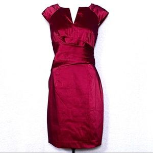 Adrianna Papell Iridescent Merlot Cocktail Dress
